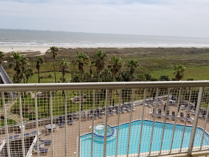 VIEW FROM OUR BALCONY IN GALVESTON