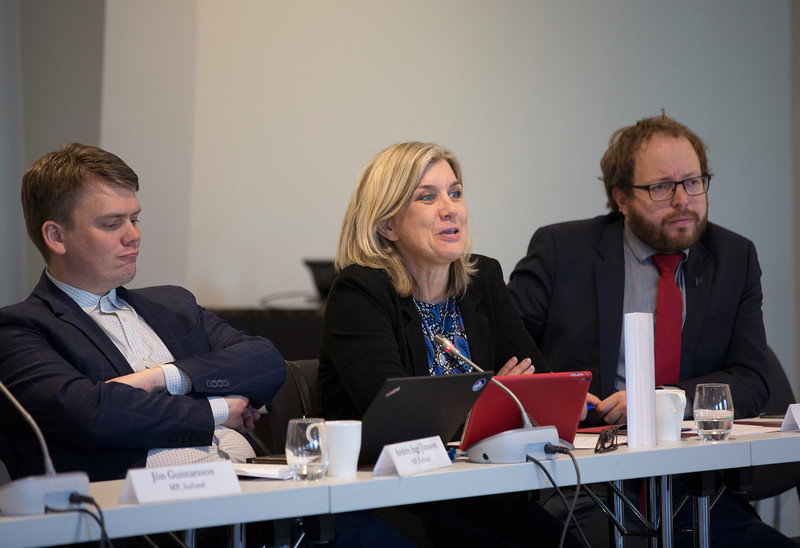 From left: Mr Andrés Ingi Jónsson, Ms Hanna Katrin Friðriksson, Mr Smári McCarthy, Members of the Icelandic Parliament.