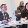 From left: Mr Boyan Natan, Chair of the EFTA Working Party and representing the president of the EEA Council, presents a statement on the developments in the EEA Agreement;  Ambassador Bergdís Ellertsdóttir, Iceland.