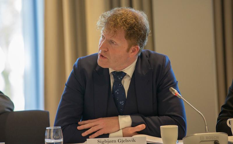 Mr Sigbjørn Gjelsvik, Member of the Norwegian Parliament.