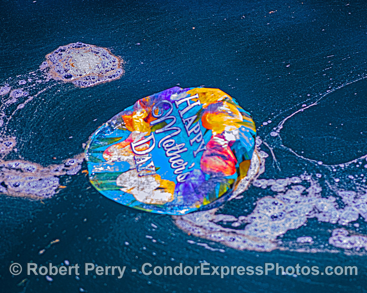 No better way to honor your mom than to pollute the ocean and harm marine life?  Pass the word:  Balloons blow, don't let them go!