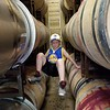 WINERY TOUR; ZACHARY IS BORED SO HE CLIMBS ON THE BARRELS