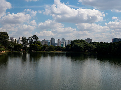 São Paulo across Lake of the Herons