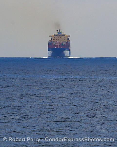 """""""Texas Trader"""" - a container cargo ship."""