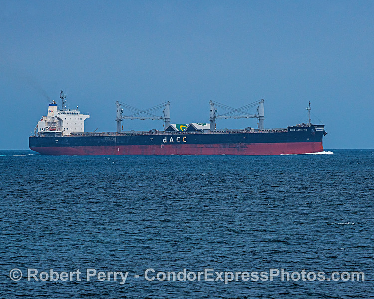 Bulk carrier dACC Adriatico is southbound in the Santa Barbara Channel