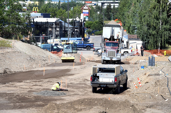 Work on the extension of Recplace Drive, a road connection from the Pine Centre Mall to the end of Recplace Drive, continues. Construction is expected to be completed by the fall. Work also includes the installation of a new watermains in the area, including to Massey Drive, and then under Highway 97W to the lot of the Treasure Cove Casino. The watermain will then extend from the casino under Highway 97S to the other side of the highway. citizen photo by Brent Braaten    July23 2018