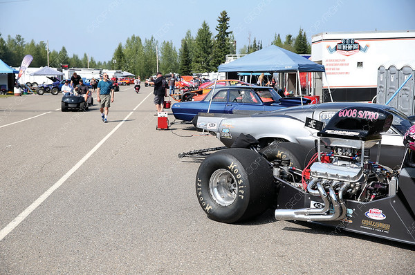 The pits at NITRO Motorsports Park were bustling with activity on Saturday afternoon with racers getting their cars ready and spectators admiring the cars during the Big Bux Shoot-Out drag race meet. Citizen Photo by James Doyle       July 28, 2018