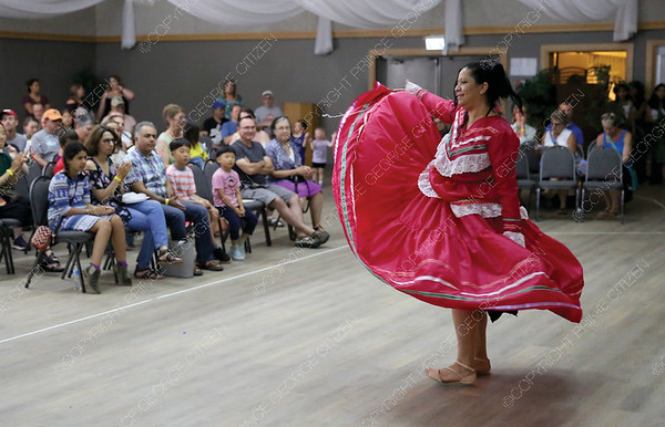 Dalia Osoria performs a Jarabe Tapatio, also known as, the Mexican Hat Dance on Saturday at Columbus Community Centre as part of the Day of Cutures event. Citizen Photo by James Doyle      July 28, 2018