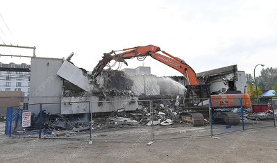 Demolition of the old RCMP building is well underway. Crews removed the hazardous materials prior to the demolition. Aug 29 2018