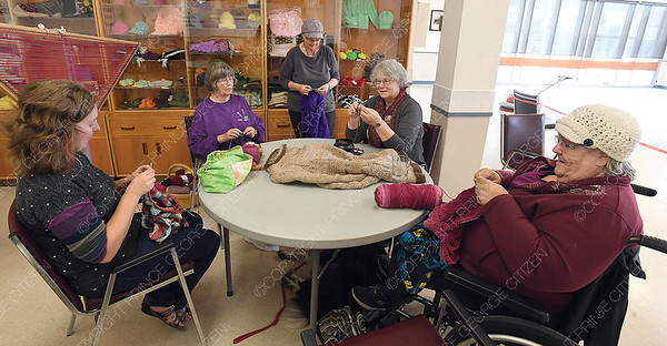 Members of the Prince George knitters gathered atSenior Activity Centre on Brunswick street. Aug 30 2018