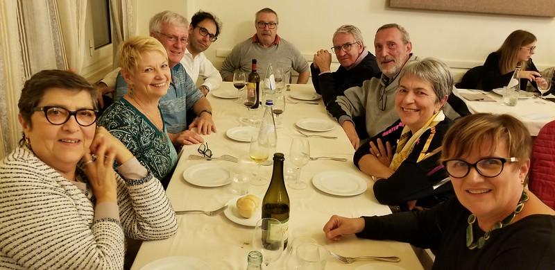 DINNER WITH OUR ITALIAN FRIENDS:  NANDA, GILDA, WARREN, THANASSIS, LEO, MAURICIO, ROBERTO, ANGELA, SYLVIA