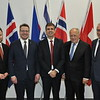 Ministers from Member States of the European Free Trade Association (EFTA) – Iceland, Norway and Switzerland – and from Israel, signed revised bilateral agricultural agreements on 22 November 2018 in Geneva, Switzerland. <br /> <br /> From left: Torbjørn Røe Isaksen, Minister of Trade and Industry of Norway, Guðlaugur Þór Þórðarson, Minister for Foreign Affairs and External Trade of Iceland, Eli Cohen, Minister of Trade and Economy, Israel, Johann N. Schneider-Ammann, Federal Councillor and Head of the Federal Department of Economic Affairs, Education and Research of Switzerland, Henri Gétaz, EFTA Secretary-General.