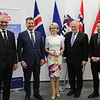 From left: Henri Gétaz, EFTA Secretary-General, Guðlaugur Þór Þórðarson, Minister for Foreign Affairs and External Trade of Iceland, Ms Aurelia Frick, Minister of Foreign Affairs, Justice and Culture of Liechtenstein, Johann N. Schneider-Ammann, Federal Councillor and Head of the Federal Department of Economic Affairs, Education and Research of Switzerland, and Torbjørn Røe Isaksen, Minister of Trade and Industry of Norway.