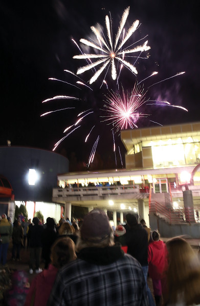 Hundreds gathered in Canada Games Plaza on Sunday evening to watch fireworks as part of the 25th Annual Civic Light Up. Citizen Photo by James Doyle        November 25, 2018