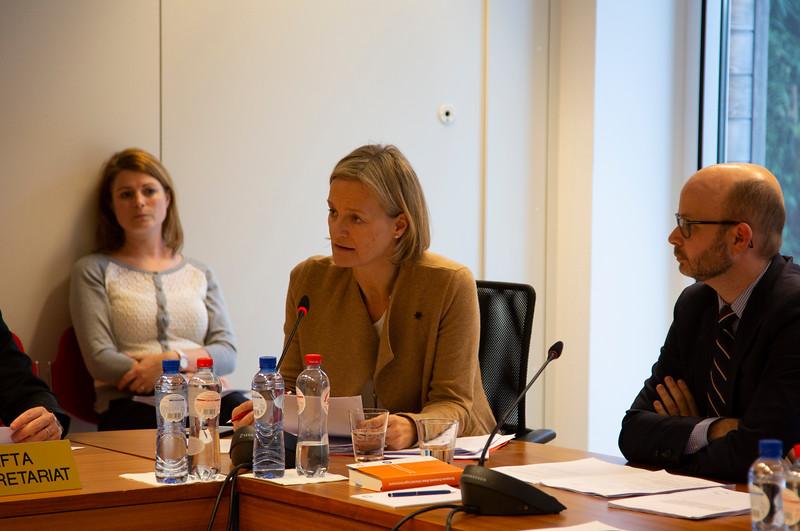 Centred: Brit Helle, Director of Internal Market Division at EFTA