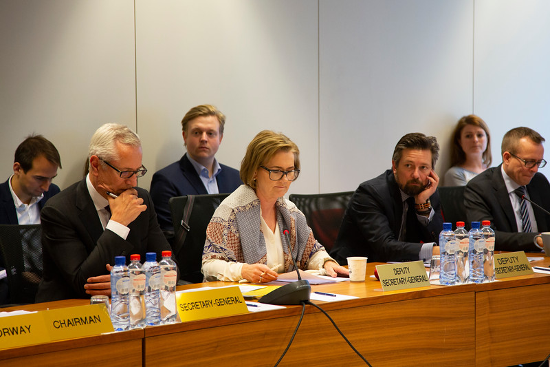 From left: Mr Henri Gétaz, EFTA Secretary-General, Ms Hege Marie Hoff and Andri Lúthersson both EFTA Deputy Secretary-General, Mr Marius Vahl, Head of EEA Policy Coordination at EFTA