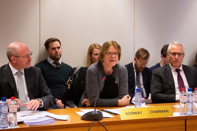 From left: Minister councellor Knut Hermansen, Ambassador Oda Helen Sletnes, EFTA SG Henri Gétaz