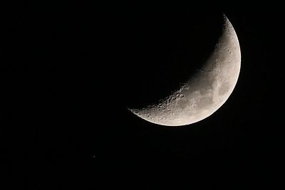Waxing Crescent Moon & Aldebaran