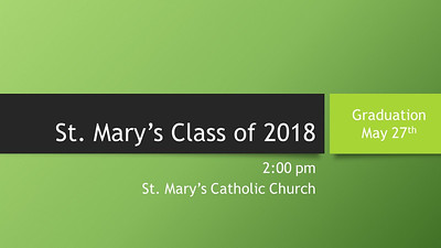 St. Mary's High School Class of 2018