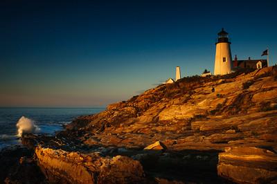 DA099,DT,Sunrise at Pemaquid Lighthouse Maine