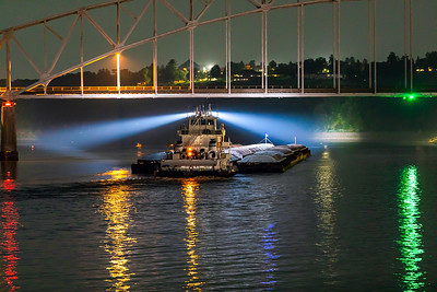 DA022,DT,Late night on the Mississippi Dubuque, Iowa