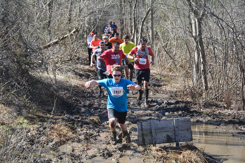 Liam Tuohy enters the heart of the mudflats section of the Loop. (photo by Chris Reinke)