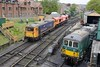 73136 + 66783 are running light into Swanage Station with 73133 in the adjacent siding
