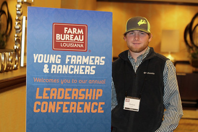 On January 13, 2018, Louisiana Farm Bureau Young Farmers and Ranchers Claiborne Parish chair Gaston Rudd of Claiborne Parish attended the Louisiana Farm Bureau Young Farmer & Ranchers Leadership Conference in Bossier City.