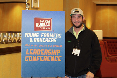 On January 13, 2018, Louisiana Farm Bureau Young Farmers and Ranchers Bossier Parish chair Colton Wilkins of Bossier Parish attended the Louisiana Farm Bureau Young Farmer & Ranchers Leadership Conference in Bossier City.