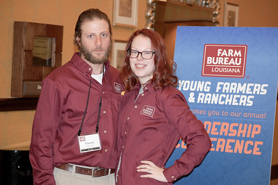On January 13, 2018, Louisiana Farm Bureau Young Farmers and Ranchers District VI directors Vincent and Krysten Cannatella of St. Landry Parish attended the Louisiana Farm Bureau Young Farmer & Ranchers Leadership Conference in Bossier City.