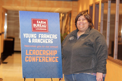On January 13, 2018, Louisiana Farm Bureau Young Farmers and Ranchers District VII alternate director Jennifer Compton of Jeff Davis Parish attended the Louisiana Farm Bureau Young Farmer & Ranchers Leadership Conference in Bossier City.