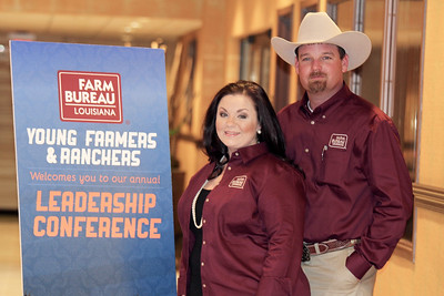 On January 13, 2018, Louisiana Farm Bureau Young Farmers and Ranchers District IV directors Danielle and Ryan Yerby of Grant Parish attended the Louisiana Farm Bureau Young Farmer & Ranchers Leadership Conference in Bossier City.