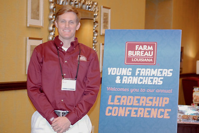 On January 13, 2018, Louisiana Farm Bureau Young Farmers and Ranchers District XI director Patrick Frischertz of Iberville Parish attended the Louisiana Farm Bureau Young Farmer & Ranchers Leadership Conference in Bossier City.
