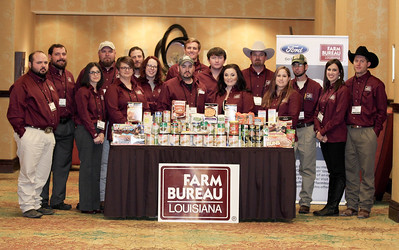 On January 13, 2018, the Louisiana Farm Bureau Federation Young Farmers and & Ranchers state committee collected food items and monetary donations for the American Farm Bureau Federation America's Young Farmers & Ranchers Harvest for All Project with Louisiana Food Bank Association.