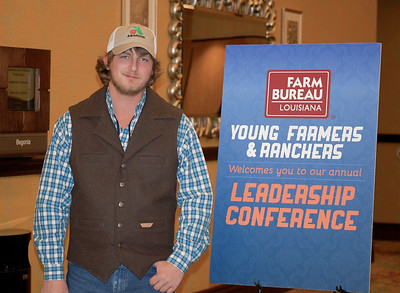 On January 13, 2018, Louisiana Farm Bureau Young Farmers and Ranchers District III alternate director Jacob Ezell of Madison Parish attended the Louisiana Farm Bureau Young Farmer & Ranchers Leadership Conference in Bossier City.