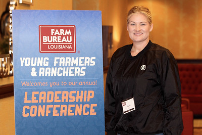 On January 13, 2018, Louisiana Farm Bureau Young Farmers and Ranchers St. Martin Parish chair Kassi Leger of St. Martin Parish attended the Louisiana Farm Bureau Young Farmer & Ranchers Leadership Conference in Bossier City.