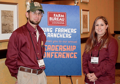 On January 13, 2018, Louisiana Farm Bureau Young Farmers and Ranchers District VII directors Brandon and Danielle Vail of Calcasieu Parish attended the Louisiana Farm Bureau Young Farmer & Ranchers Leadership Conference in Bossier City.