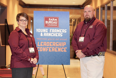 On January 13, 2018, Louisiana Farm Bureau Young Farmers & Ranchers state secretaries Marcie and Ramsey Keller of Lafourche Parish attended the Louisiana Farm Bureau Young Farmer & Ranchers Leadership Conference in Bossier City.