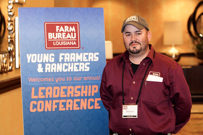 On January 13, 2018, Louisiana Farm Bureau Young Farmers & Ranchers state chairman Matthew Gravois of East St. James Parish attended the Louisiana Farm Bureau Young Farmer & Ranchers Leadership Conference in Bossier City.