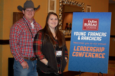 On January 13, 2018, Louisiana Farm Bureau Young Farmers and Ranchers District IV alternate directors Robert and Rachel Duncan of Rapides Parish attended the Louisiana Farm Bureau Young Farmer & Ranchers Leadership Conference in Bossier City
