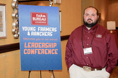 On January 13, 2018, Louisiana Farm Bureau Young Farmers and Ranchers District IX director Vic Womack of East Baton Rouge Parish attended the Louisiana Farm Bureau Young Farmer & Ranchers Leadership Conference in Bossier City.