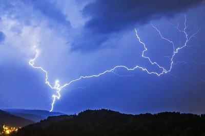 Blitz über Stallikon