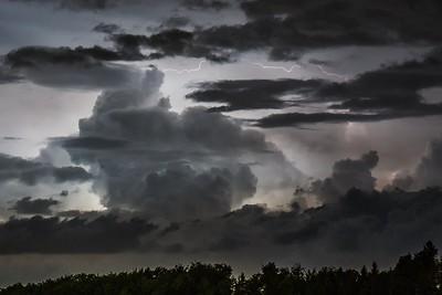 Elektrischer Wolkenhimmel