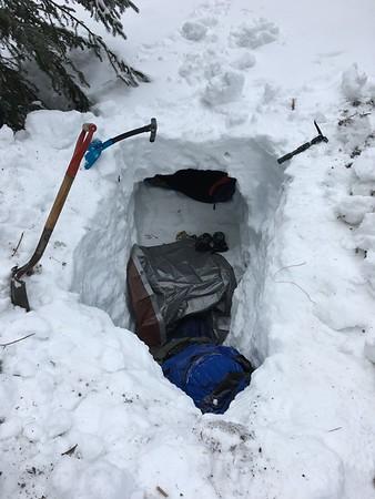 20180210 - Snow Cave Campout