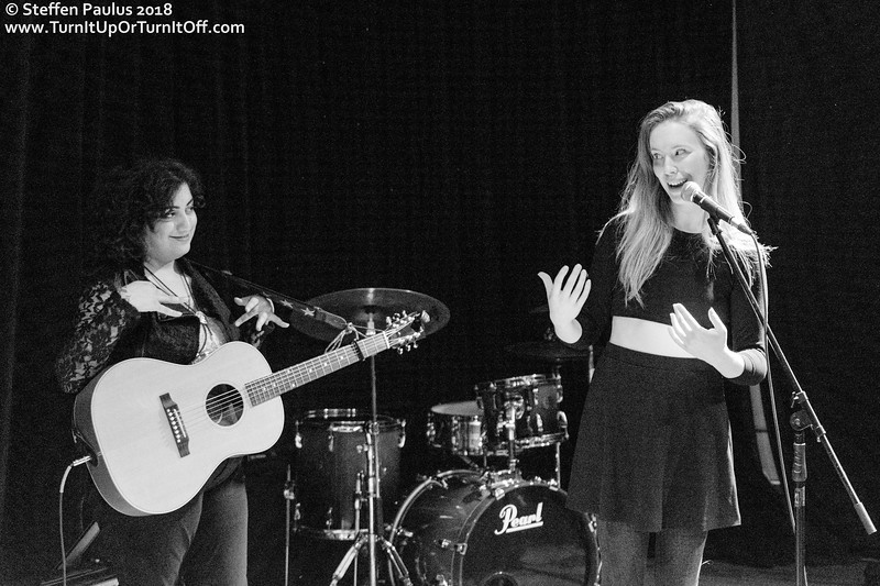 Skye Wallace introduces Winona Wilde @ IWD Concert, Arraymusic, Toronto, ON, 8-March 2018