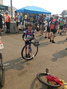 Jaden, the joungest rider of the whole race. 10 years old