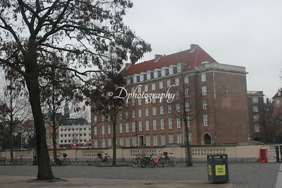 Another beautiful building seen from Stauning's square with the train tracks in between