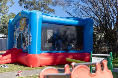 Jumping Castle at the Boy's 4th Birthday Party