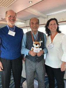 John, Mas and Kim with beloved PJ the Tiger - Kim Frawley