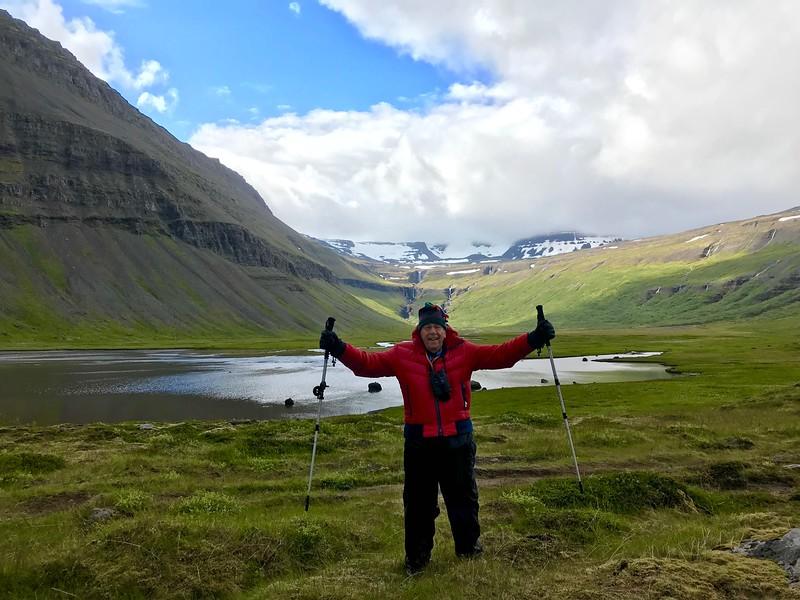 Gerry triumphs at the Valagil hike - Kim Frawley